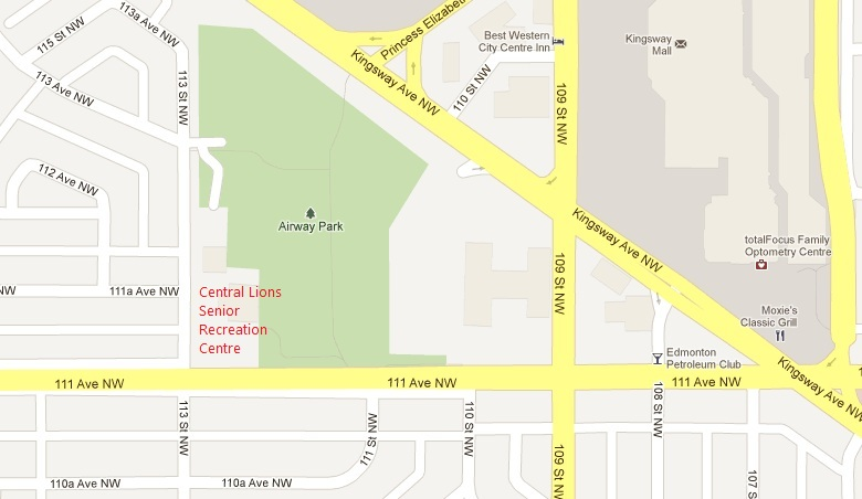 Map to Central Lions Senior Recreation Centre